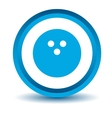 Blue bowling icon vector image