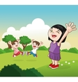 Cartoon of happy little Kids vector image