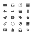 Email flat icons vector image