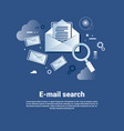 email search template web banner with copy space vector image