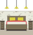Modern Flat Design Bedroom vector image