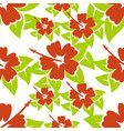 pretty hibiscus seamless background vector image