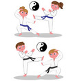 karate kids vector image