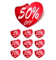 Heart Sale Labels vector image