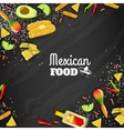 Mexican Food Seamless Background vector image