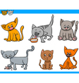 funny cats set vector image