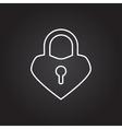 lock heart icon vector image