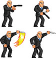 Body Guard Stabbing Knife Animation Sprite vector image vector image