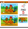 task of differences for child vector image vector image