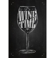Poster wine time chalk vector image vector image