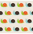 Seamless snails pattern vector image vector image