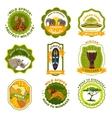 Africa Emblems Set vector image
