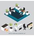 Isometric Interior Composition vector image