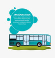 modern bus transport infographic vector image