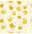oktoberfest seamless pattern on light background vector image