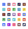 School and Education Colored Icons 4 vector image