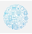 Smart house blue sign vector image