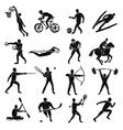 Sport Sketch People Set vector image