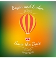 wedding pink balloon with red hearts over vector image