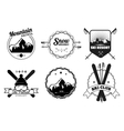 Ski Resort Emblems vector image