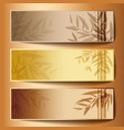 Colorful banners with the tree branches vector image