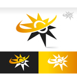 Sun Swoosh Logo Icons vector image vector image