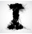 Grunge letter - alphabet symbol design vector image vector image