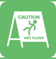 wet floor sign vector image