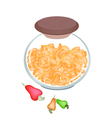 A Jar of Delicious Roasted Cashew Nuts vector image