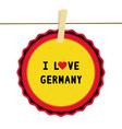 I lOVE GERMANY4 vector image