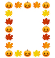 Autumn photo frame vector image vector image