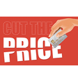 Cut the price with credit card vector image vector image