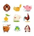 Farm Animal and Bird Collection Set vector image