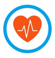 Heart Ekg Rounded Icon vector image