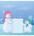 snowmen with sign vector image