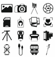 Photography set icons vector image