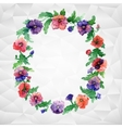 Ethnic pattern of flowers vector image