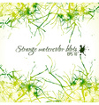 Abstract green and yellow watercolor blobs vector image