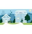 city business vector image
