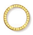 gold round frame cinema on a white background vector image