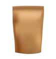 Golden Blank Foil Food Snack Sachet Bag vector image