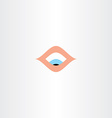 human eye looking down icon vector image