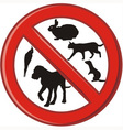 No pets allowed in this area prohibited vector image
