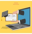 Online education flat concept vector image