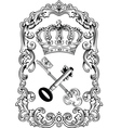 Royal frame crown vector image