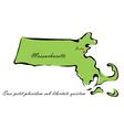 State of Massachusetts vector image