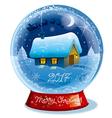 christmas crystal ball vector image