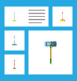 flat icon mop set of cleaner sweep equipment and vector image