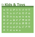 Kids and toys icon set vector image vector image