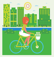summer walk by bicycle vector image vector image